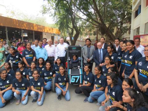 Rizzoni and India women Baja team