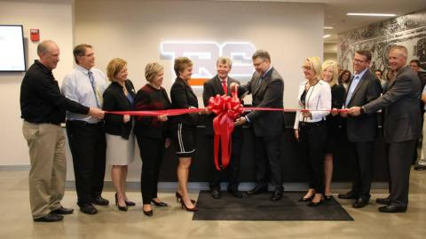 Dean David Williams (center) at the October 5 ribbon cutting with Ohio State, TRC and community leaders.